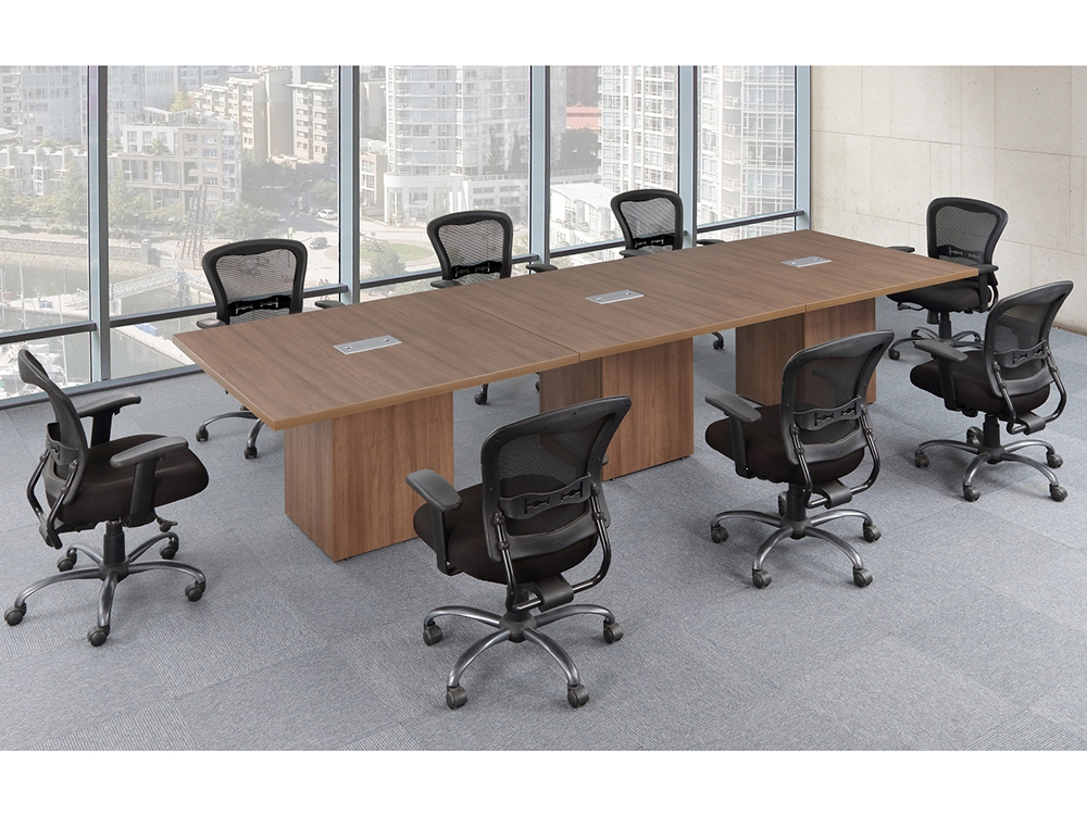 Affordable Office Rectangular Conference Table With Cube Base - Rectangular conference room table