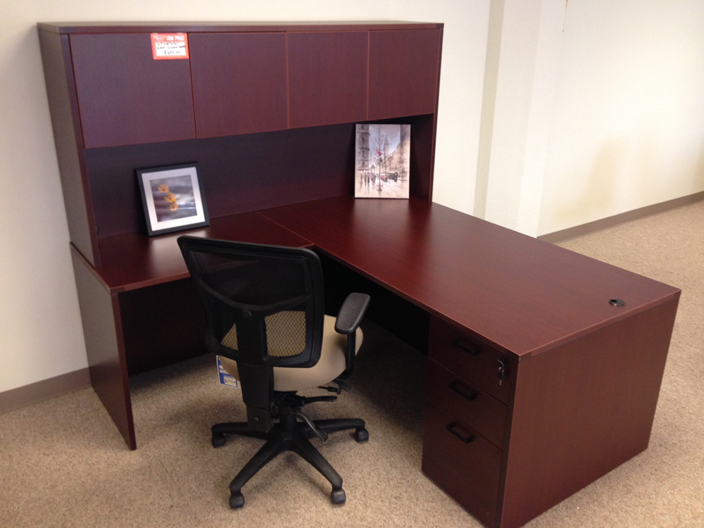 Rectangular L Desk #10 Rectangular Front L Shaped Office Desks