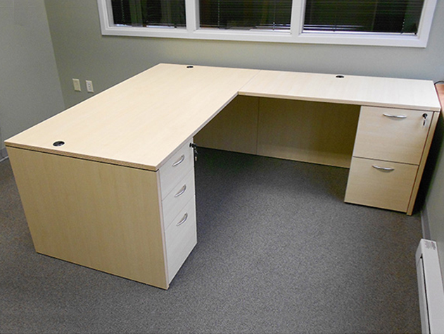 Merveilleux Rectangular L Desk #11 Rectangular Front L Shaped Office Desks